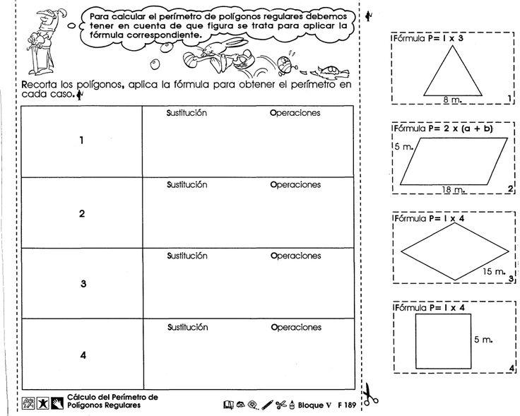 Para calcular el perímetro de polígonos regulares debemos tener en cuenta de que figura se trata para aplicar la fórmula correspondiente. Cálculo del perímetro de polígonos regulares