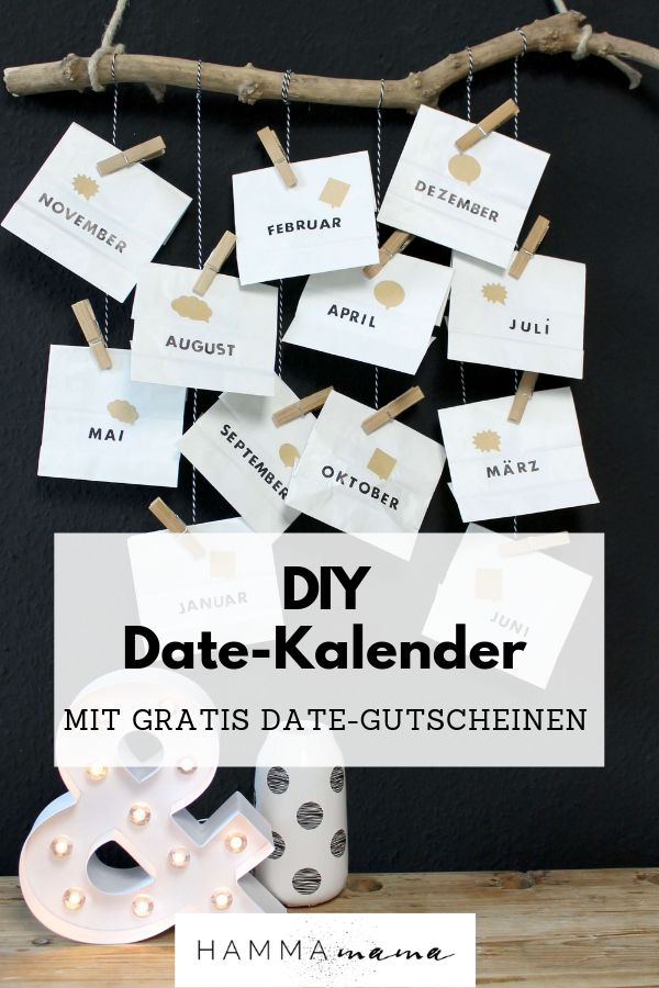 DIY (für Valentinstag, Vatertag oder Geburtstag) mit Freebie! ° Datumskalender selber machen ° Ein persönliches Geschenk für den Mann   – Liebe