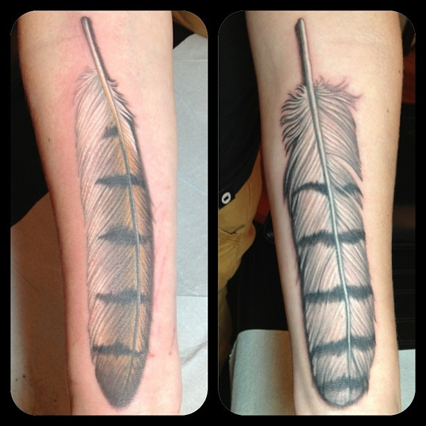 kay-abbott-owl-feather-tattoo.jpg (612×612)