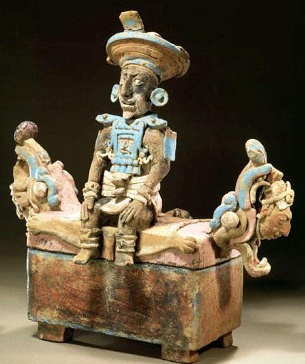 Maya Throne ~ Ahau en Trono,  Clásico Temprano, Petén
