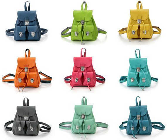 Leather Backpack Mini for Women  Small Backpack Purse