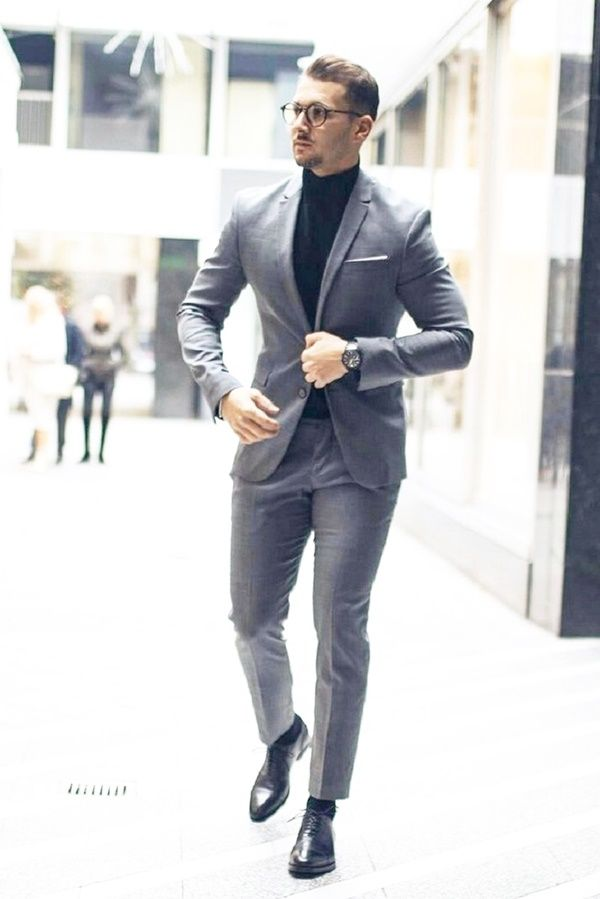 Best Grey Suit Brown Shoes Styles For