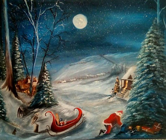 Check out this item in my Etsy shop https://www.etsy.com/uk/listing/564968219/christmas-for-the-animals-original-oil