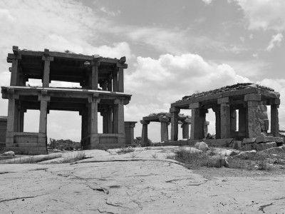 Ancient Gates, temples and pavilions, Hampi, Karnataka, India #India #Kamalan #travel #culture #photo
