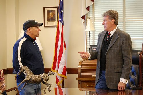 Appointment with the Governor, Jake Putnam meets with Idaho Governor Butch Otter.