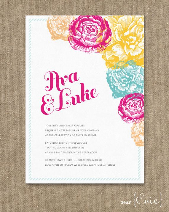 Fiesta wedding invitation