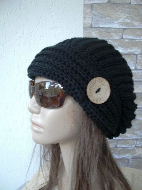 slouchy knit hats Slouchy beanie Hand Knit Hat Womens by Ebruk, $40.00