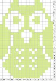 knitted owl chart - Google-søgning...would also make a good crochet chart too!!