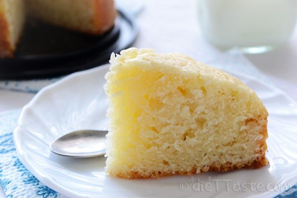 Eggless Cake - easy no-egg and no-butter sponge cake, base of many desserts, suitable for vegetarians and vegans.