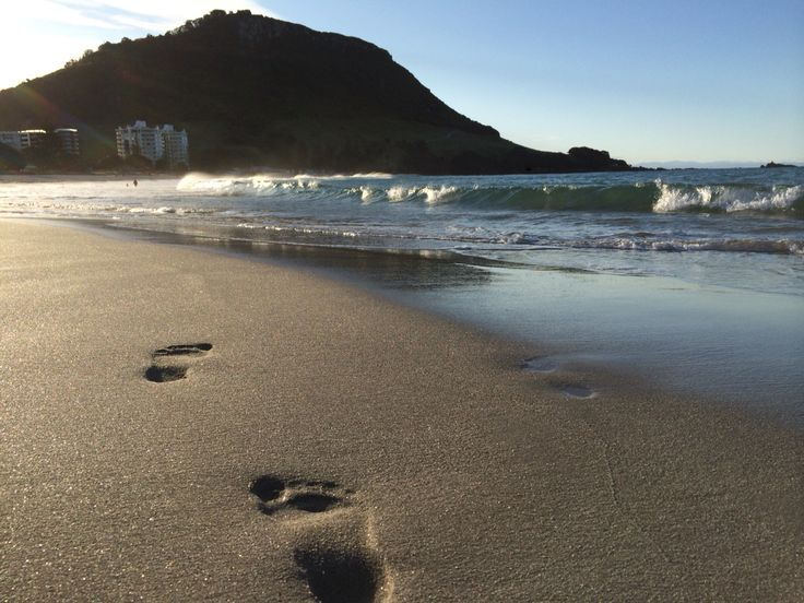 Foot prints in the sand...