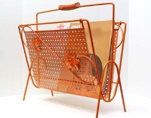 Gold wire magazine rack - we had one just like this