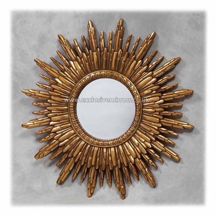 17 best images about mirrors on pinterest wall mirrors for Large round gold mirror