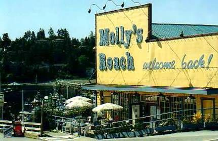 Molly's Reach cafe at Gibsons Landing sunshine coast bc canada