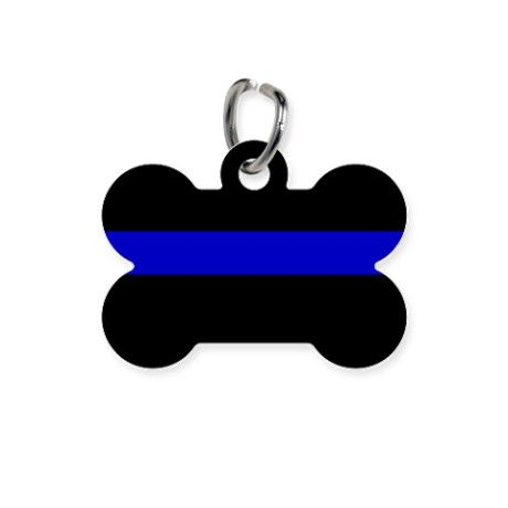 Thin Blue line Pet Tag on CafePress.com