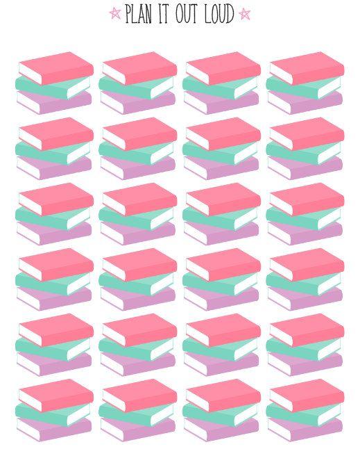 Book stickers (Erin Condren Stickers)