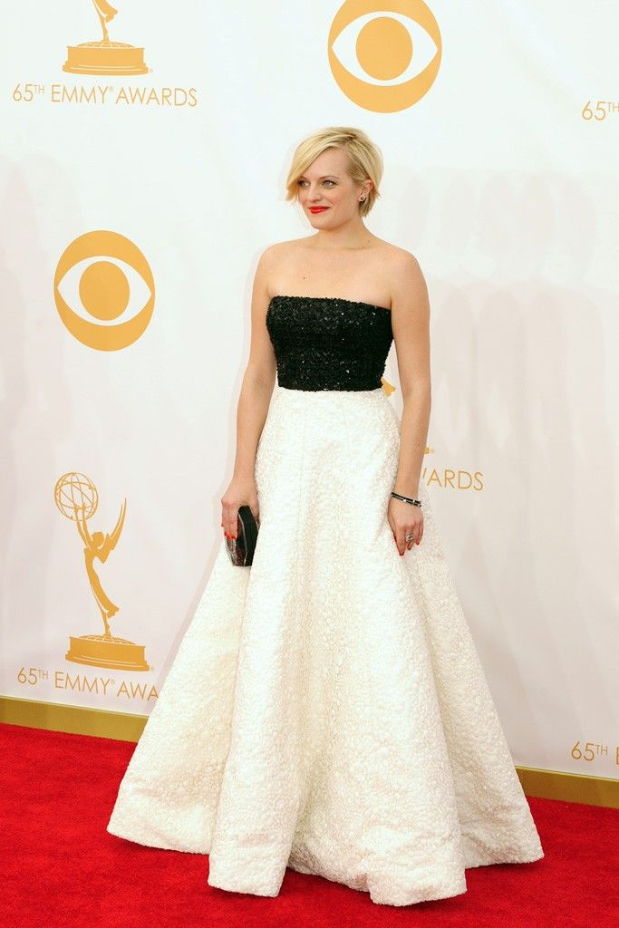 Elisabeth Moss in Andrew Gn On the Red Carpet at the 65th Primetime Emmy Awards [Photo by Amy Graves]