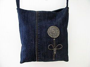 Маленькая сумочка из джинсов. Часть вторая - декорирование | Ярмарка Мастеров - ручная работа, handmade