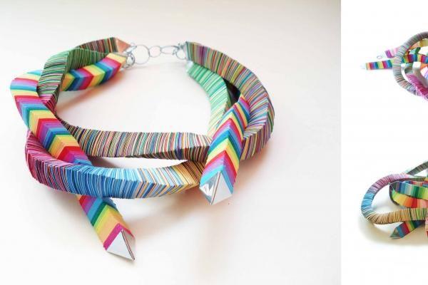 Recyklingowa biżuteria z papieru - Recyklingowa biżuteria z papieru - Weranda Country