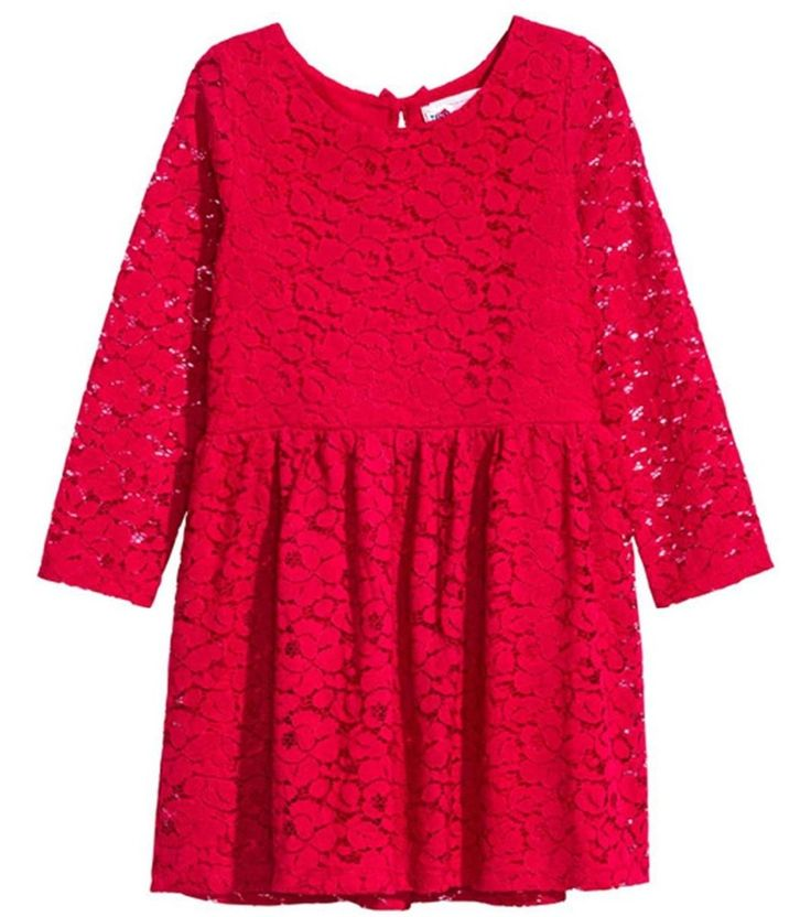 2018 Latest Model Baby Clothes Beautiful Lace Kids Dress Half Sleeve Red Children Baby Girl Birthday Dresses