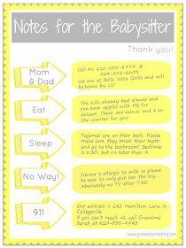 18 best Babysitter Checklist images on Pinterest
