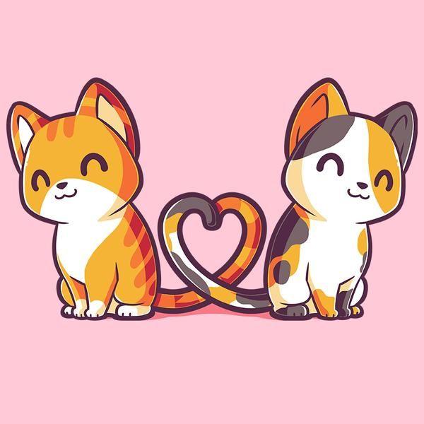 Purrfect Together Cute Kawaii Drawings Cute Cat Drawing Cute