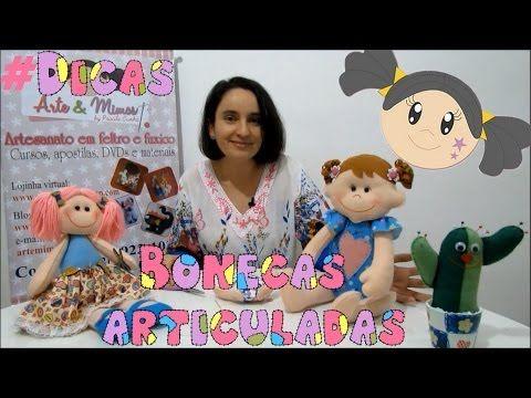 Bonecas Articuladas - Aprenda a Fazer os Braços e Pernas.