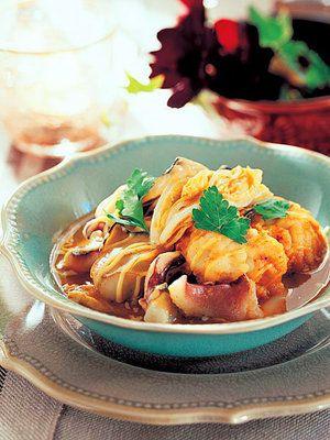 【ELLE a table】いかと白菜のスープドポワソンレシピ エル・オンライン