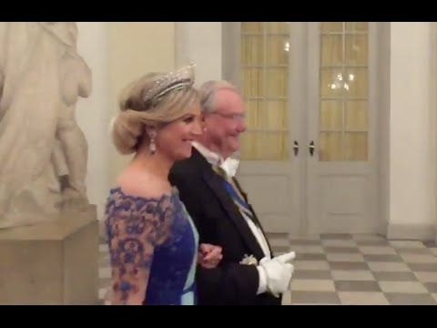 State Dinner for TM the King and Queen of the Netherlands at Christiansb...