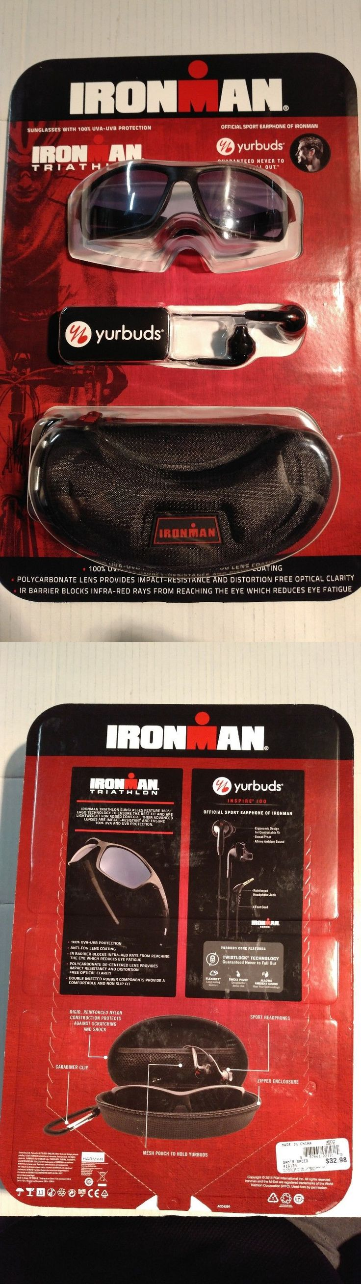 Sunglasses 151571: New!!! Ironman Triathlon Sunglasses/Yurbuds Earphones Bundle BUY IT NOW ONLY: $44.95