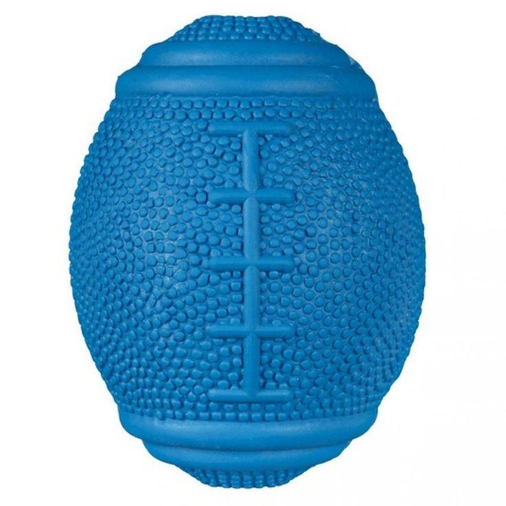 PETMAX Игрушка для собак Мяч регби с наполнением, латекс, 20 см