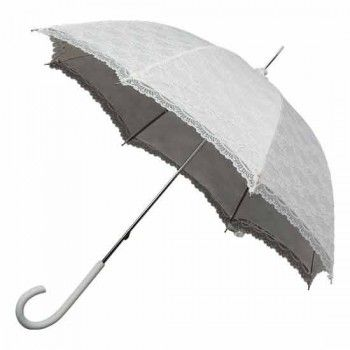 Victorian Lace Wedding Umbrella - Ivory