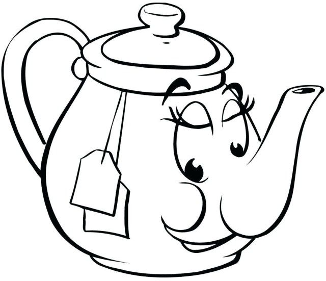 Best Photo Of Teapot Coloring Page Coloring Pages Printable