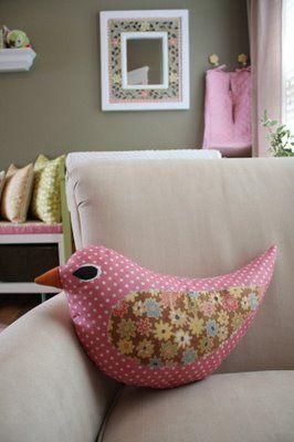 cute bird pillow