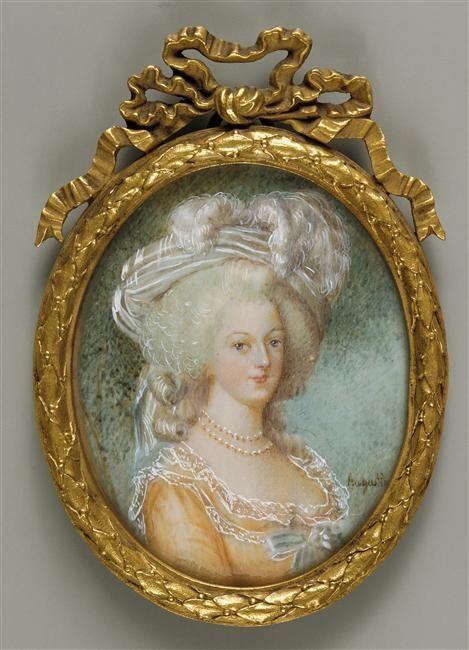 Portrait de Marie-Antoinette (1755-1793), Augustin Jean-Baptiste-Jacques (1759-1832). Roumanie, Bucarest, Musée National d'Art.