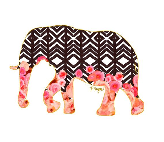 Elephant Animal Print No One by ParimaCreativeStudio on Etsy, $17.00