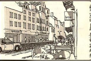 Calle de Bremen Dibujo de Javier Bossi