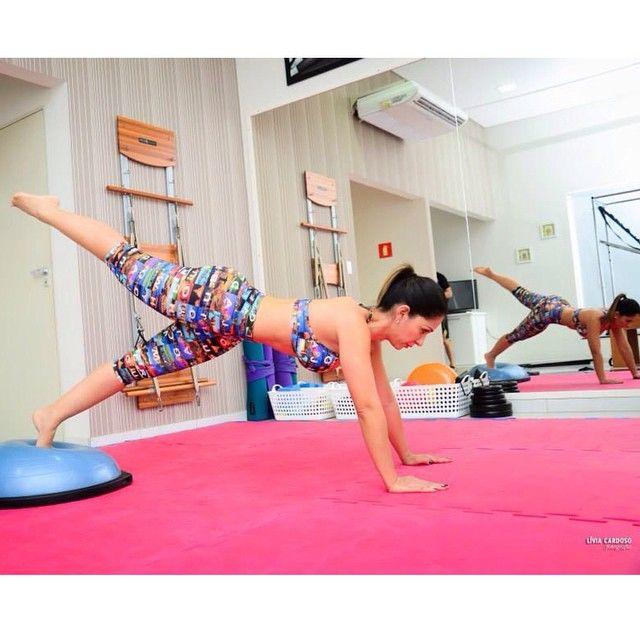 Bosu Ball Standing Desk: #pilates #fitness #BOSU