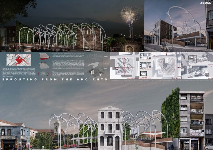 "||| First Prize ||| ""Sprouting from the Ancients"" by turkish team: M. Baris Yegena and Ozge Ozkul from Yegena Architectural Design Office, Istanbul - Turkey"