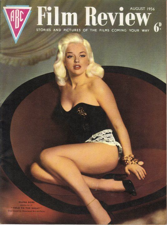 Diana Dors on the cover of ABC Film Review magazine ...