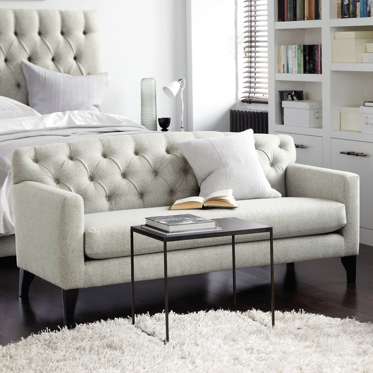 Eaton bedroom sofa seating the white company for Bedroom loveseat