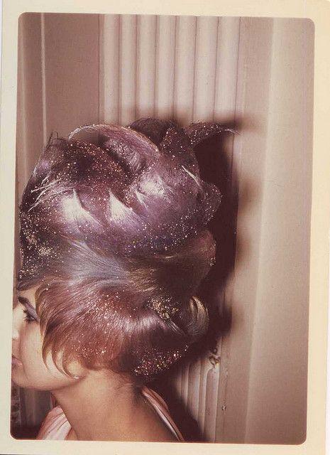 60s glittery beehive