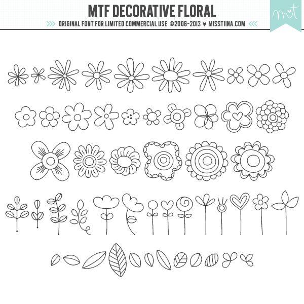 MTF Decorative Floral|MissTiina.com {Fonts} :: Illustration & Design, Digital Scrapbooking, Free Fonts, Tutorials and more!