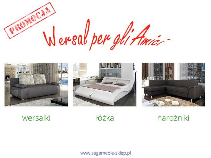 Wiosna coraz bliżej więc zaczynamy sezon promocyjny :) Na początek mnóstwo wspaniałych mebli w promocji od Wersal!  http://sagameble-sklep.pl/690-wersal-per-gli-amici