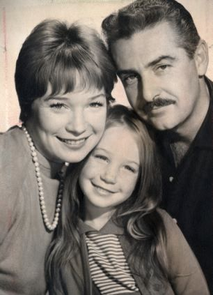 Shirley with husband Steve Parker and Sachi in 1961