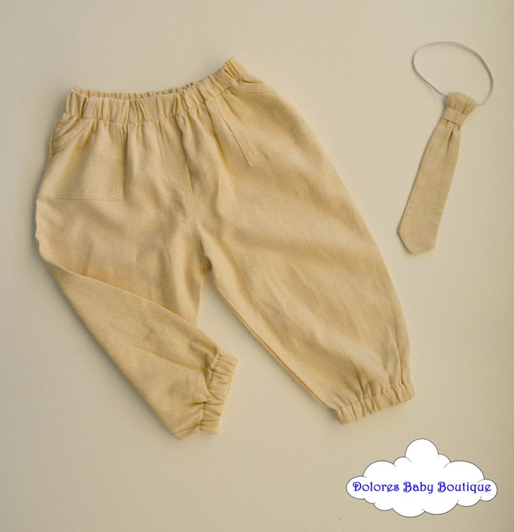 Baby Boy Set~ Beige Boy Pant~ Boy Tie~ linen pant~ stripes tie~ boy outfit~ baby boy gift~ baby boy toddler~ baby hipster~ baby 1st birthday by DoloresBabyBoutique on Etsy