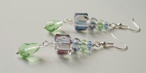 Crystal earring handmade