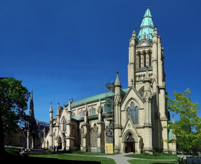St. James Cathedral Church in Toronto, Ontario.  An Anglican church, founded in 1793, this building built in 1853.