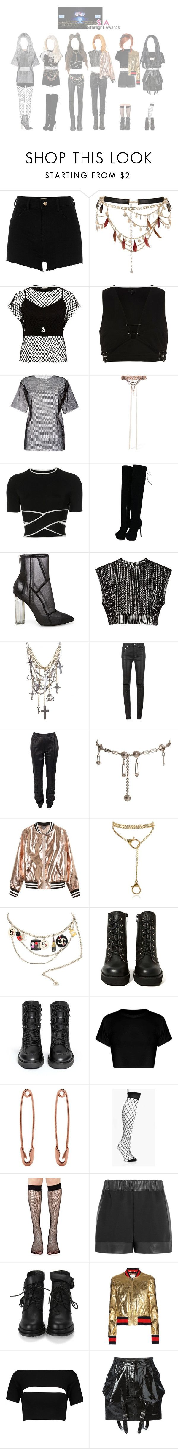 """""""┇ AWARDS ┇ Starlight Awards PERFORMANCE"""" by dreamcatcher-official ❤ liked on Polyvore featuring River Island, MM6 Maison Margiela, Erickson Beamon, T By Alexander Wang, Steve Madden, Yves Saint Laurent, Joseph, Versace, Sans Souci and Karl Lagerfeld"""
