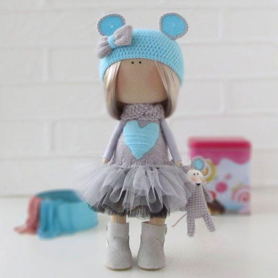Lerika Doll - Textile Doll - Fabric Doll - Interior Doll - Rag Doll - Handmade Dolls - Tilda Doll - Christmas Gift for Wife