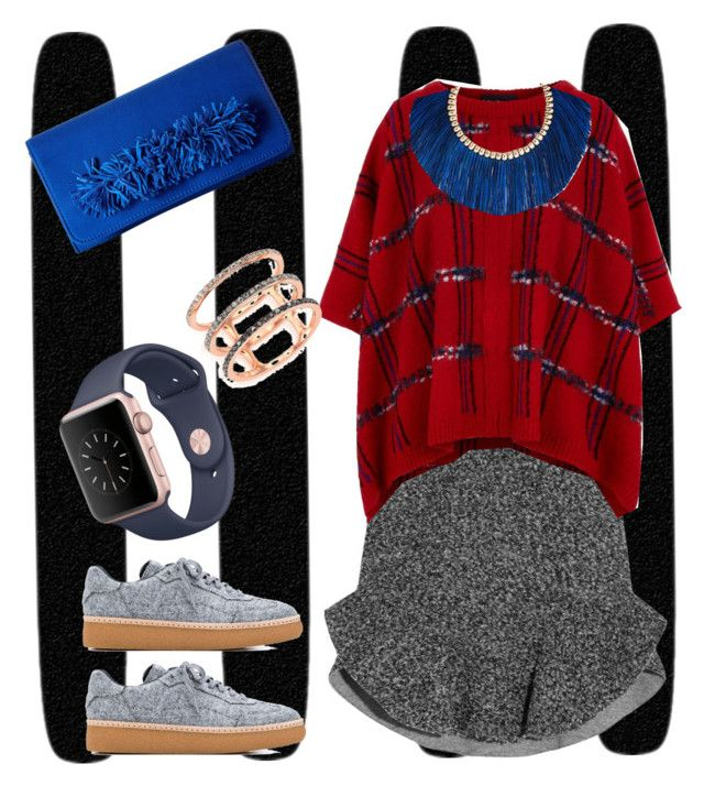 """""""Red and blue#234"""" by jennykenny-1 on Polyvore featuring Isabel Marant, Boutique Moschino, Alexander Wang, Steve Madden, Rosantica and EF Collection"""